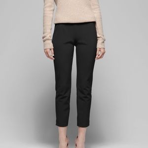 Theory linen cropped work pant